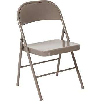 Flash Furniture HERCULES Series Double Braced Gray Metal Folding Chair