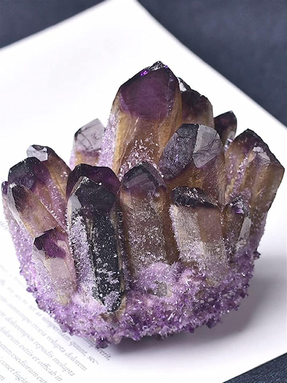GOSOU Natural San Diego Mall Amethyst Cluster Quartz Purple Crystal Stone Many popular brands Rock