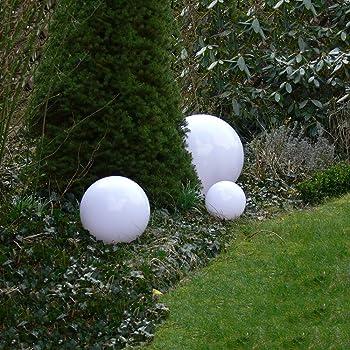 3er Set Solar LED Kugel Gartenlampe Lampe Außen Kugellampe Solarleuchten 25 cm