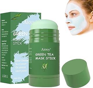 Green Mask Stick, Deep Cleansing Mask Stick, Purifying Clay Stick, Solid Mask Stick, Hydrateert de huid, controleert olie,...