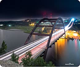 Atomic Market Pennybacker Bridge Austin Texas At Night Thick Mousepad by Atomic Market