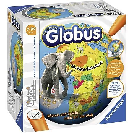 Ravensburger tiptoi 00787 - Der interaktive Globus - Lern-Globus für Kinder ab 7 Jahren
