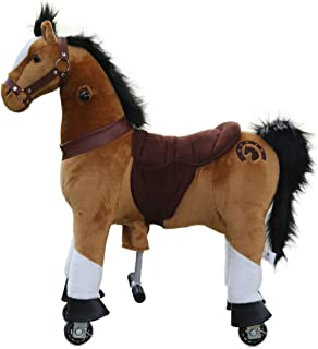 Medallion - My Pony Ride On Real Walking Horse for Children 3 to 6 Years Old or Up to 65 Pounds (Color Small Brown) for Boys and Girls