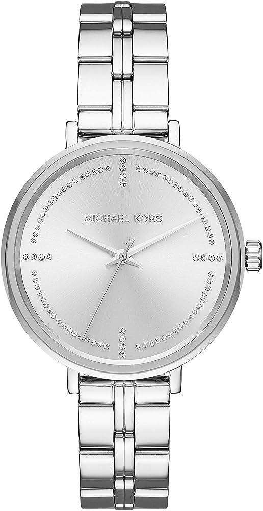 Michael kors, orologio per donna,in acciaio inossidabile MK3791