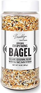 XL Jar Everything But The Bagel Sesame Seasoning Blend 10 oz Original With Sea Salt, Garlic & Onion, Keto Paleo All Purpose Multi seasoning Shaker Bottle