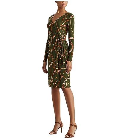 LAUREN Ralph Lauren Casondra Dress (Olivia/Red Multi) Women