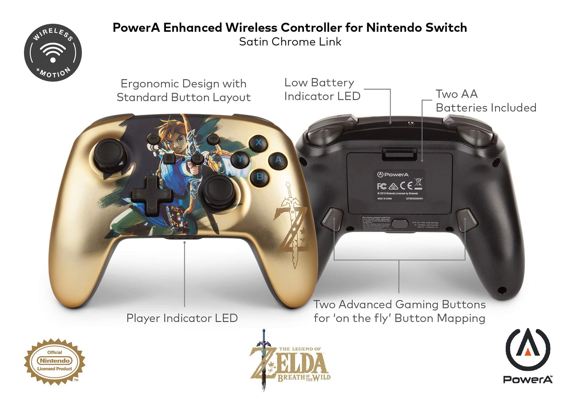 Mando inalámbrico mejorado PowerA para Nintendo Switch: Chrome ...