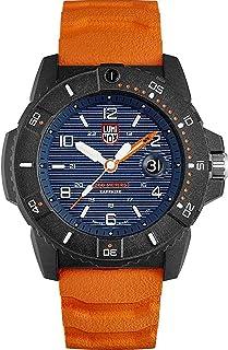 Luminox Navy Seal Mens Watch 45mm Blue Display Orange Band (XS.3603/3600 Series): 200 Meter Water Resistant + Hardened Min...