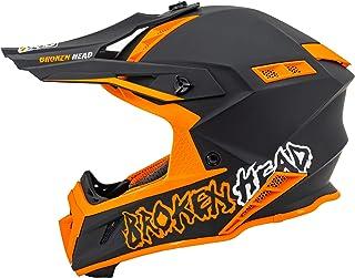 Broken Head TheHunter - Ultra leichter Motocross & Enduro Helm für Profis - Light Orange - Größe S 55-56 cm