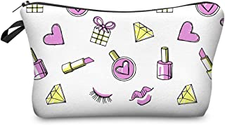 Small Size Makeup Bag Women Cosmetic Bags Organizer Box Ladies Handbag Polyester Travel Storage Bags Wash Bag - Multi-Color Mixed