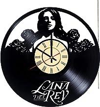 Lana Del Rey vinyl wall clock Lana Del Rey mural Lana Del Rey home decoration Lana Del Rey wall hanging accessories Lana D...