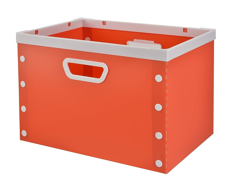しゃがむ媒染剤ラフレシアアルノルディPerber-Iker プラスチック収納バスケット 大容量折り畳み式たんす収納ボックス 子供のおもちゃ、服、タオルなどを保管するのに適しています 長さ40*幅27*高さ27cm (レッド)
