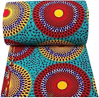 African Fabric 100% Cotton Fabric African Ankara Print Fabric 6 Yards One Piece 24FS1214