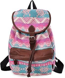 Douguyan Lightweight Backpack for Teen Young Girls Cute Backpack Print Rucksack 164 Green Magic