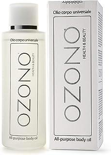 OZONO H&B Olio Corpo Universale Professionale - Olio Ozonizzato, Jojoba, Avocado - Estratti Naturali Nutrienti - Antibatte...