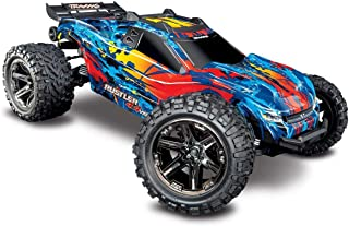 Traxxas Rustler 4X4 VXL Brushless RTR 1/10 4WD Stadium Truck (Red)-TRA67076-4-RED