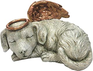 Windhaven Urns Pet Memorial Angel Dog Sleeping Cremation Urn Memorial Statue Bottom Load 30 Cubic Inch