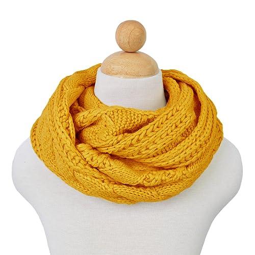 Luna et Margarita Echarpe Cercle en Tricot à Crochet Twist 8 Couleurs  Foulard Hiver pour Femme d2d28492592