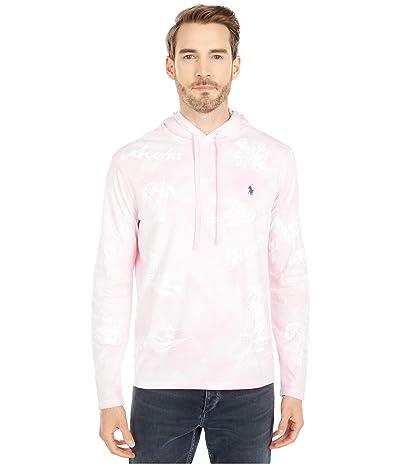 Polo Ralph Lauren Hooded Jersey Tee (Garden Pink Print) Men
