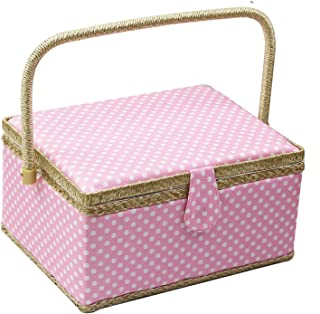 Small Cotton Prym Millefleurs Sewing Basket Navy//Multi-Colour