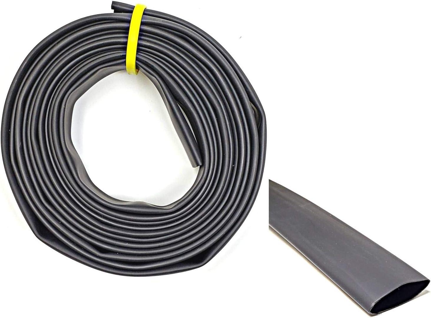 "WindyNation 1.5"" Fees free!! 50 Feet Black 3:1 Adhesive Dual Dedication Glue Wall Lined"
