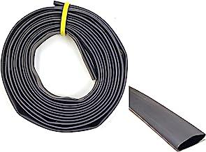 "WindyNation 3/8"" 10 Feet Black 3:1 Dual Wall Adhesive Glue Lined Marine Grade Heat Shrink Tube Tubing"