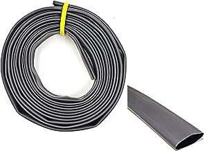 "WindyNation 1"" 10 Feet Black 3:1 Dual Wall Adhesive Glue Lined Marine Grade Heat Shrink Tube Tubing"