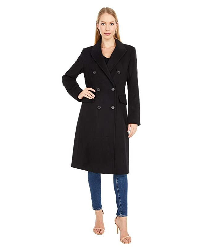 1940s Style Coats and Jackets for Sale LAUREN Ralph Lauren Double Breasted Wool Reefer w Peak Lapel Black Womens Coat $272.99 AT vintagedancer.com