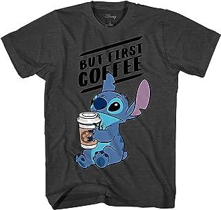 Disney Lilo and Stitch Coffee First - Camiseta para adulto