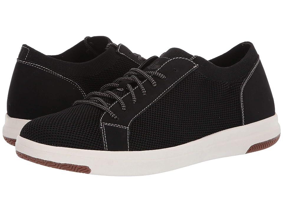 Dockers Franklin Smart Series Knit Sneaker with Smart 360 Flex and NeverWet (Black Knit/Nubuck) Men