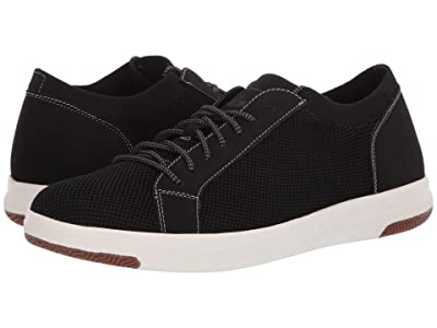 Dockers Franklin Smart Series Knit Sneaker with Smart 360 Flex and NeverWet (Black Knit/Nubuck) Men