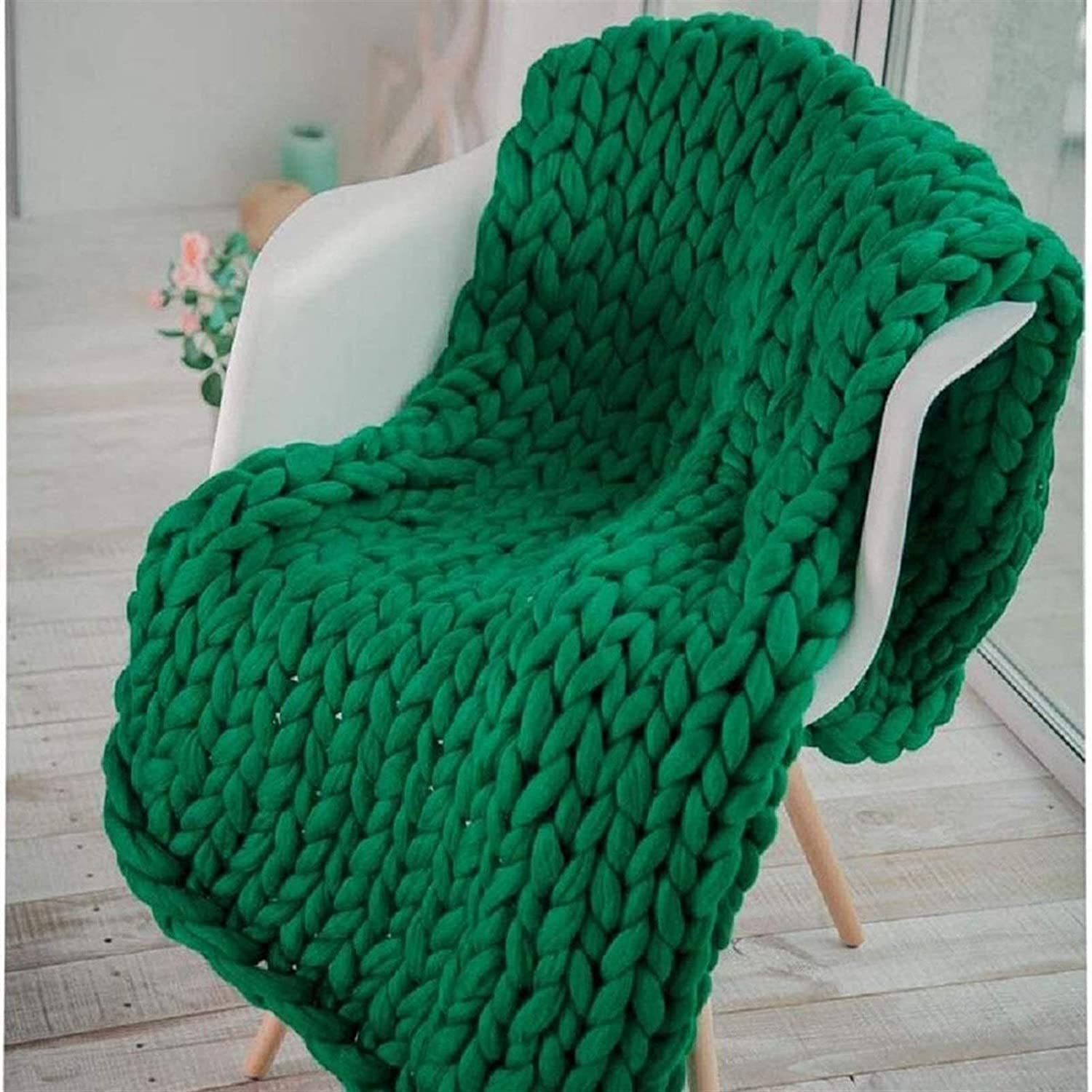 JGYZD Financial sales sale Hand Knitting Blanket -Large Soft Weekly update Made Knitted Cable