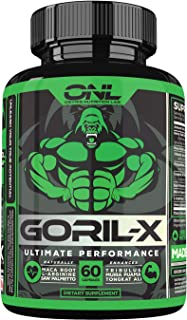 GORIL-X Men's Performance Pills - All Natural Enlargement Booster Increase Size, Strength, Energy, Testosterone & Agrandar...