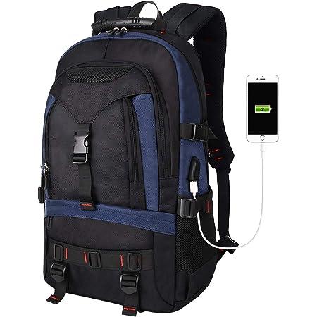 Burzum Stylish Laptop Backpack with USB and Headphone Port Leisure Hiking Travel Backpack