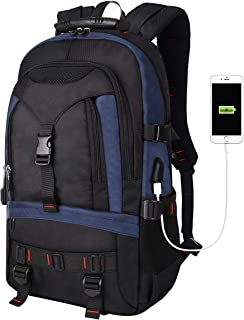 Tocode Water Resistant Laptop Backpack with USB Charging Port Fits up to 17-Inch Laptop Blue Blue 17 inch,15.6 inch, 15 inch, 14 inch, 13 inch