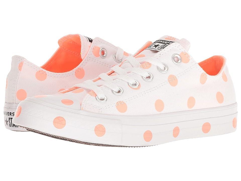 Converse Chuck Taylor(r) All Star(r) Ox Dots (White/Crimson Pulse/White) Women