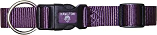 Hamilton Adjustable Dog Collar with Brushed Hardware