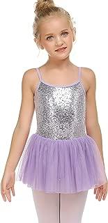 Zaclotre Girls Cross Strap Tutu Skirted Leotard Glitter Ballet Dance Dress