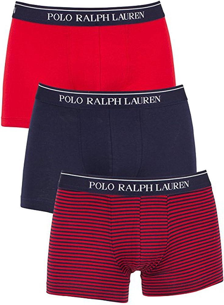 Polo ralph lauren,boxer per uomo,set da 3 pezzi,in 95% cotone, 5% elastan