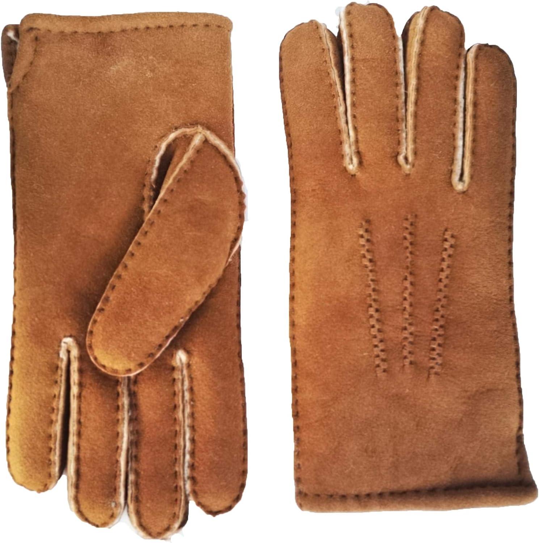 YISEVEN Women's Merino Lambskin Shearling Leather Gloves Three Points
