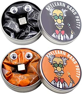Pitcircle 2 Pack Magnetic Putty Magic Slime Putty Toys Stress Relief with Iron Slime and Monster Eyes for Kids & Adults Black and Gold