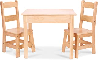 "Melissa & Doug Tables & Chairs 3-Piece Set – Natural Blonde, 20"" H x.."