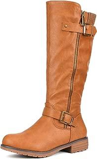 Women's Side Zipper Knee High Riding Boots