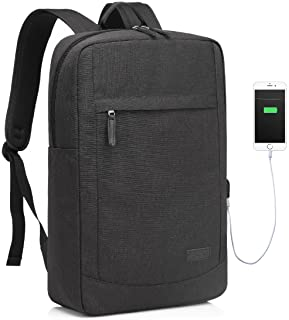 17 inch Laptop Backpack,Vaschy Laptop Bag for17 inch Computer Mens Backpack with Built-in Charging Cable Lightweight Schoo...