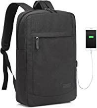 Slim Business Laptop Backpack for 17 inch Computer with USB Port