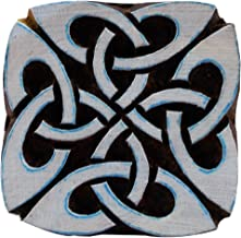 Square Celtic Knot Motif Wooden Printing Block Stamps Textile Print Tattoo Clay Pottery Blocks