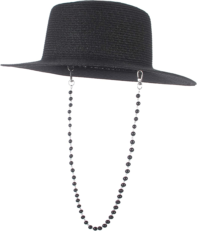 EOZY Wide Brim Fedora Sun Hat for Women and Men Vintage Panama Cap