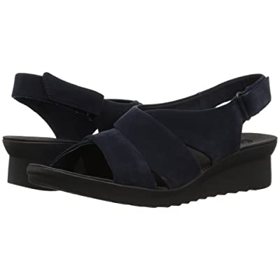 Clarks Caddell Petal (Navy Synthetic Nubuck) Women