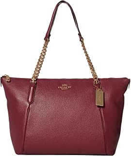 COACH Pebbled Leather Ava Chain Tote