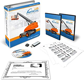 Aerial Lift Certification Training Kit - OSHA Compliant Aerial Lift Operator COMPLETE Training With Certificates Of Completion, Operator Cards, Student Hand Outs, Hands On Evaluation Checklist & More